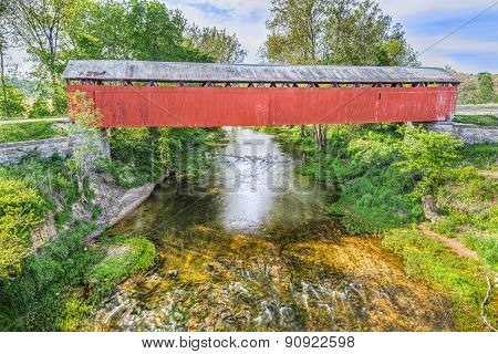 Covered Bridge At Scipio, Indiana