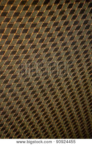 Stylized Black and Grey Checkered Interior Design Fabric with Funky Warping
