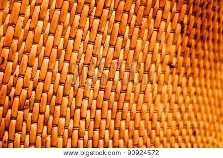 Handwoven Textured Basket Weave Close Up Background Concept Shot of Curving Handcrafted Vessel
