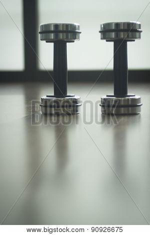 Dumbbell Gym Metal Weights In Gym Health Club