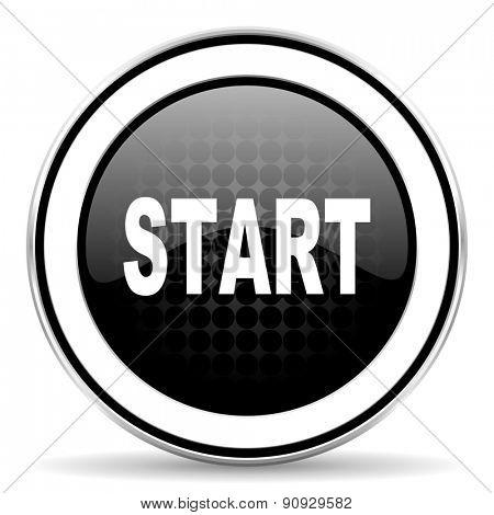 start icon, black chrome button