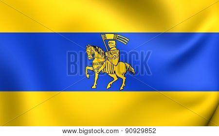 Flag Of Schwerin, Germany.