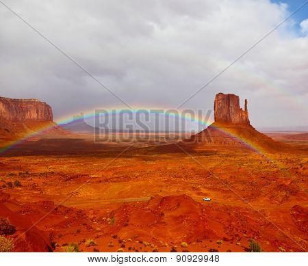 Red stone desert of an Indian tribe of the Navajo, USA. Certain rocks -