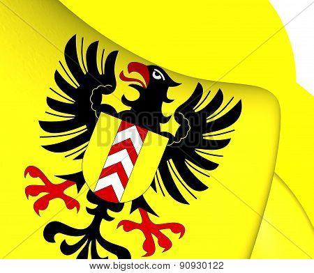 Flag Of Neuchatel, Switzerland.