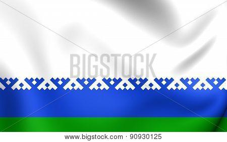 Flag Of Nenets Autonomous Okrug, Russia.