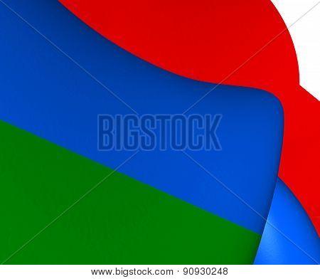 Flag Of Karelia, Russia.