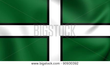 Flag Of Devon, England.