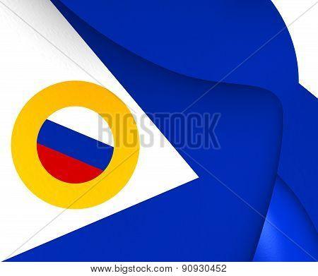 Flag Of Chukotka Autonomous Okrug, Russia.