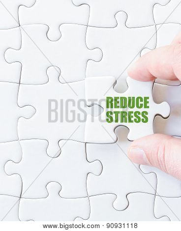 Missing Jigsaw Puzzle Piece With Words  Reduce Stress