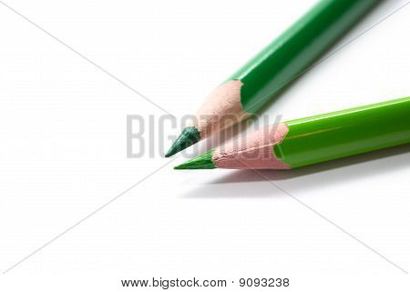 Two Green Pencils