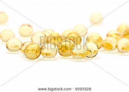 Transparent Yellow Capsules