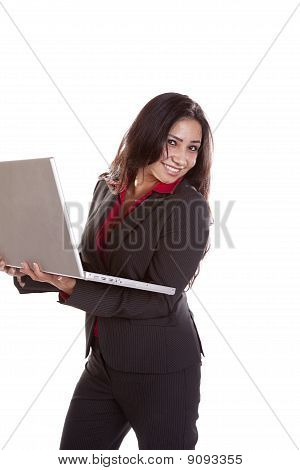 Business Woman Laptop Happy