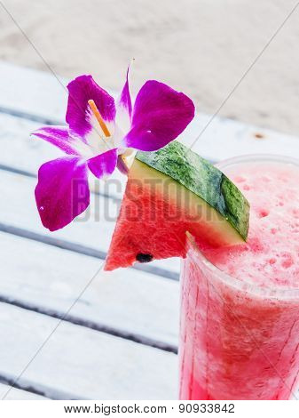Watermelon Juice With Orchid