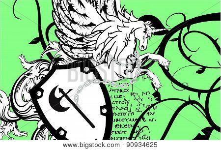 heraldic unicorn coat of arms