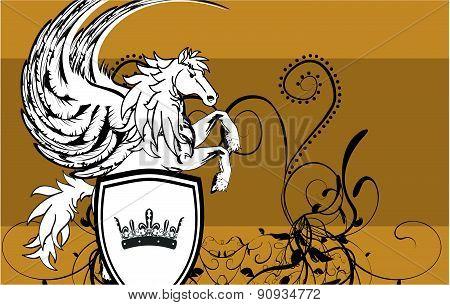 heraldic pegasus shield