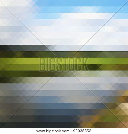 Triangle Pixel Lanscape