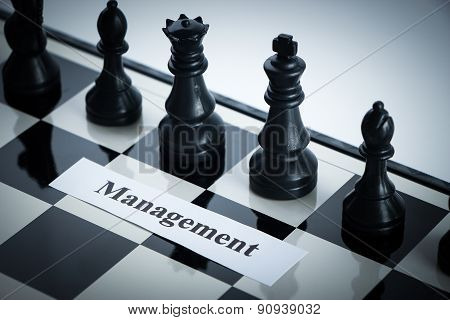 Chess Management Concept
