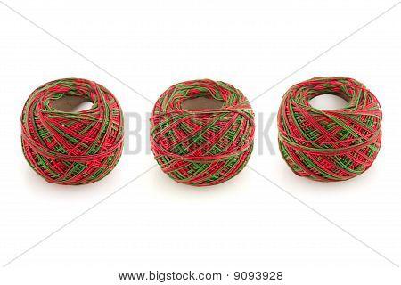 Three Cotton Spools