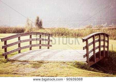 Vintage Bridge In The Countryside