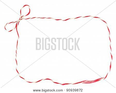 Red And White Bow Rope Frame