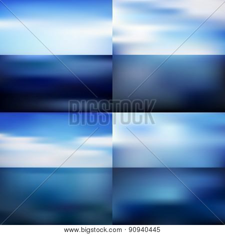 Water Blurred Background Set