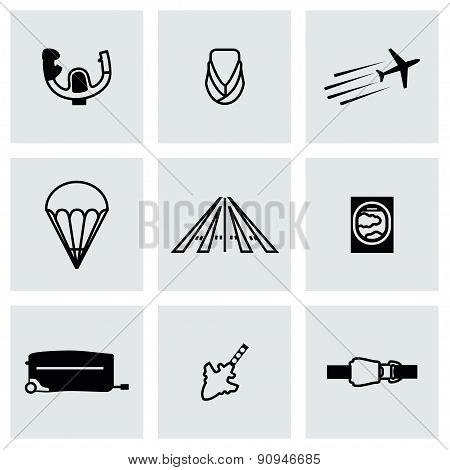 Vector Airplane icon set