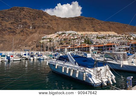 Port in Los Gigantes at Tenerife island - Canary Spain