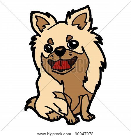 Puppy Cartoon Isolated On White Vector.eps