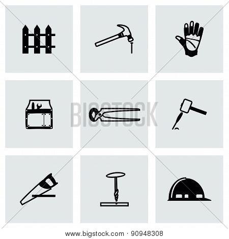Vector Carpenty icon set