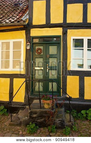 Bright Colors Traditional Painted Wooden Door