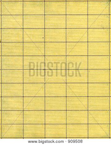 Vintage Postage Stamp Sheet