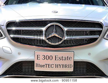 Close Up Logo On Bumper Of Mercedes Benz