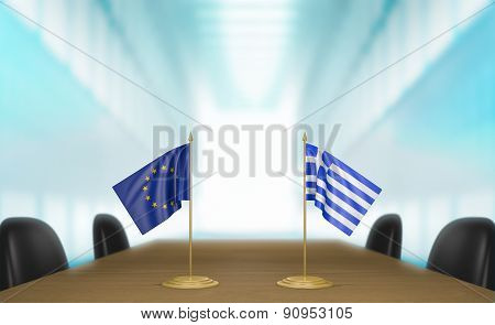 European Union and Greece economic trade deal talks
