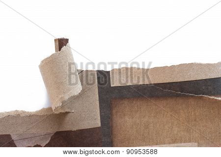 Recycled Paper Was Torn A Strip.