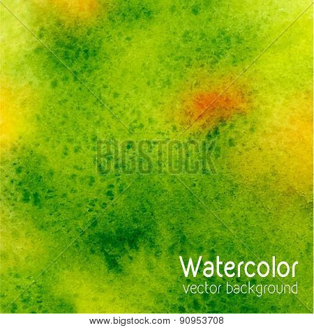 Vector Abstract Watercolor Background With Paper Texture.