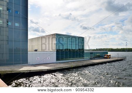 Almere, Netherlands - May 5, 2015: The Modern Theatre Building In Almere.