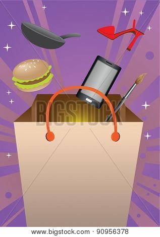 Shopping Extravaganza Concept Vector Illustration
