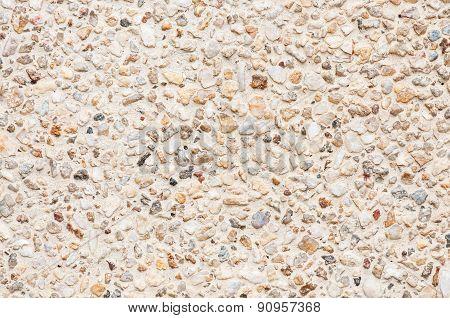 Brown stone gravel background of Concrete