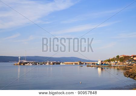 The North Harbor Of The Old Town Of Nessebar, Bulgaria