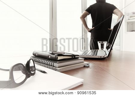 Young Creative Designer Man Working At Office As Concept