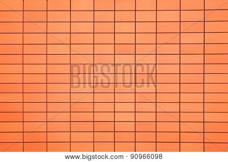 Terracotta ceramic wall tiles background