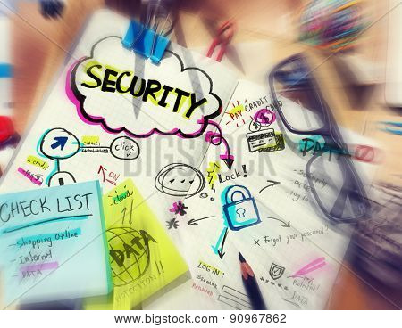 Online Internet Note Pad Security Concept