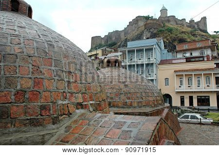 Old Town Of Tbilisi In Abanotubani Area, Georgia