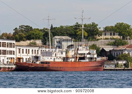 Ukraine, Sevastopol - September 02, 2011: The Former Yacht Admiral Doenitz Inherited As A Trophy Aft