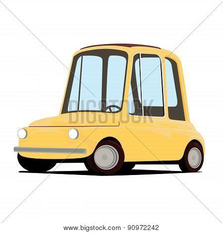 funny cartoon car illustration