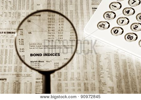 Bond Indices Financial Data