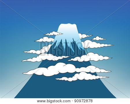 Mount Fuji With Sky