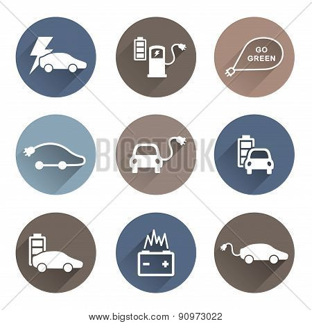 electric cars icons vector