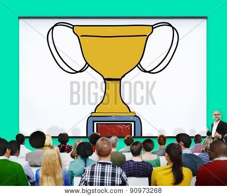 Motivation Trophy Success Winning Reward Prize Concept