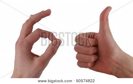 Thumb Up And Ok